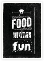 Food is Always Fun Restaurant Wall Decor Quotes Poster Paper Print(16.5 inch X 11.5 inch)