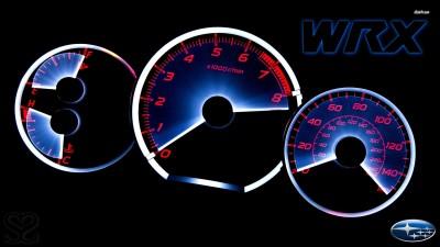 Athah Subaru Impreza WRX gauges Poster Paper Print