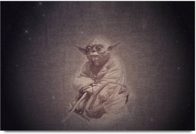 Star Wars Yoda canvas art Paper Print