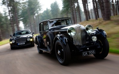 Athah Bentley 8 Litre and Bentley Mulsanne Poster Paper Print