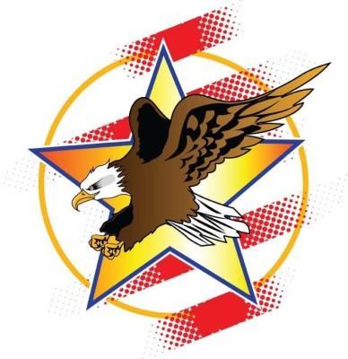 Athah Frameless Poster Flying Eagle Paper Print