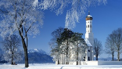 Church Temple Winter Purity Poster Paper Print