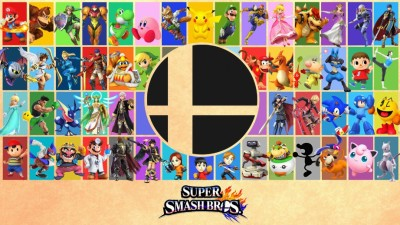 SUPER SMASH BROS POSTER Paper Print
