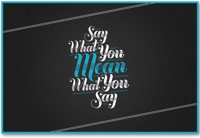 Mean (18 X 12 Inches) By Shopkeeda Paper Print