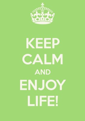 Athah Poster Keep Calm And Enjoy Life! NON TEARABLE Paper Print Rolled In Cardboard Tube Paper Print