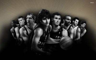 Basketball team, Europe Athah Fine Quality Poster Paper Print
