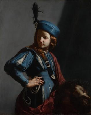 Framed David with the Head of Goliath by Guido Cagnacci Italian Fine Art Print