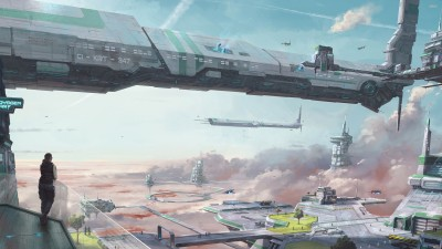 City in the sky in Star Citizen Athah Fine Quality Poster Paper Print