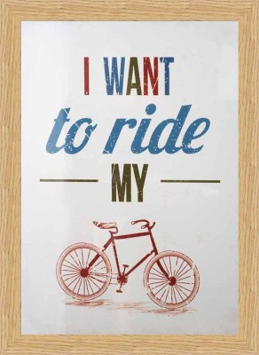 I want to ride my bycycle Fine Art Print