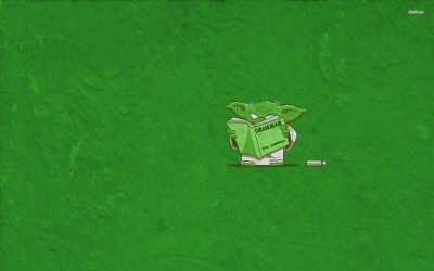 Athah Yoda learning grammar fine quality poster Paper Print