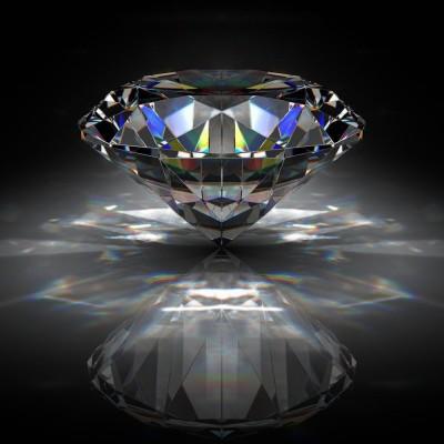 Brilliant Diamond On Black Surface Premium Poster Canvas Art