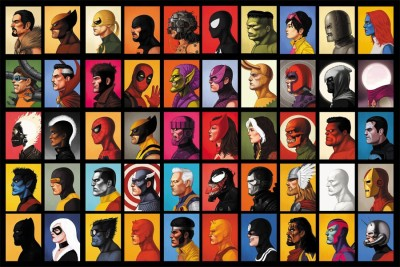 the super heros Paper Print