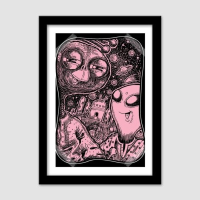 Athah Poster The Alien Selfie Paper Print