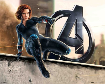 The Avengers- Age Of Ultron (Black Widow) Paper Print