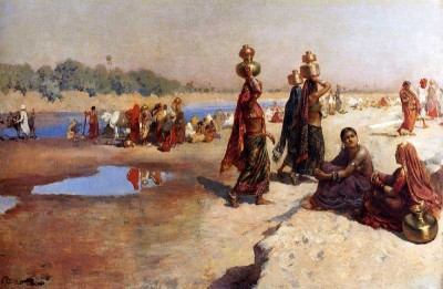 The Museum Outlet - Art Postcard - Weeks Edwin Lord Water Carriers Of The Ganges Paper Print