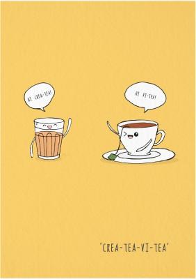 Crea-tea-vi-tea | Laminated Poster | Small | 8 x 11 Photographic Paper