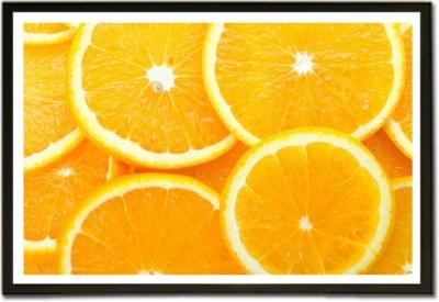 Framed The Orange Slice Pattern Paper Print