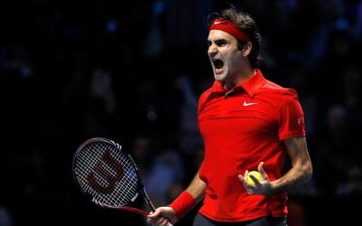 Roger Federer Celebrating Win Poster Paper Print(12 inch X 18 inch, Rolled) at flipkart