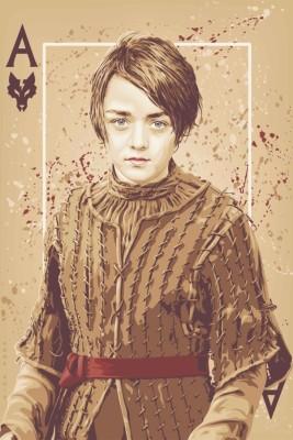 Athah Minimal Art Poster Arya Stark Ace Card Paper Print Rolled Paper Print