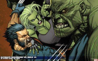 Hulk Wolverine She-Hulk Frameless Fine Quality Poster Paper Print