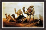 Camels In The Sand - ArtsNyou Printed Pa...