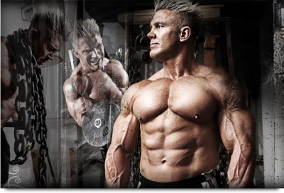 Chained Mr. Perfect Body Builder Paper Print