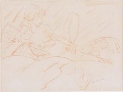 Otto Mueller - Weiblicher Akt - ca1923 (Medium) Paper Print