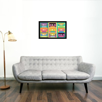 Cassette Framed Wall art With glass Photographic Paper