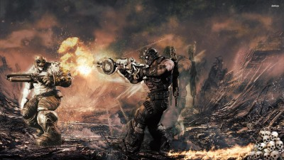 Gears of War 3 battle Athah Fine Quality Poster Paper Print
