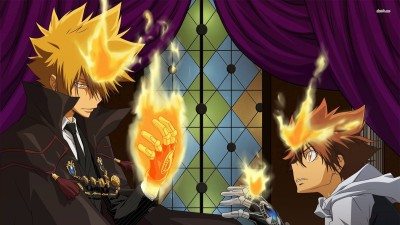 Giotto and Tsunayoshi - Reborn! Athah Fine Quality Poster Paper Print
