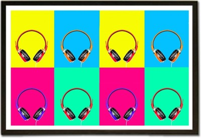 Headphones and Earphones Music D Paper Print