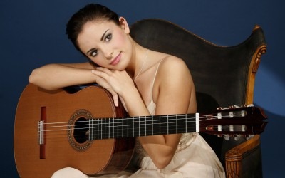 Music Ana Vidovic Ana Ivanovic Beautiful Guitar Musician Woman Wall Poster Paper Print