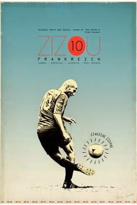 Posterhouzz Zinedine Zidane Poster Paper Print
