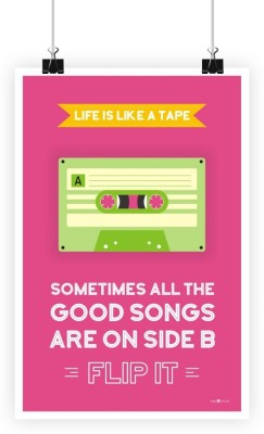 Athah Frameless Poster Life Is Like Tape Paper Print