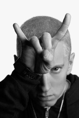 Athah Fine Quality Poster sk Eminem Horns Paper Print