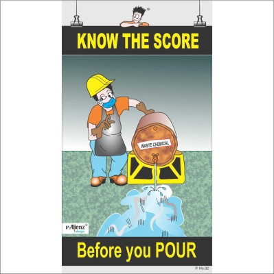 Safety Poster-Know the Score Paper Print