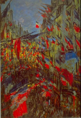The Museum Outlet Festivities by Monet - Print (24 x 18 Inch) Canvas Painting