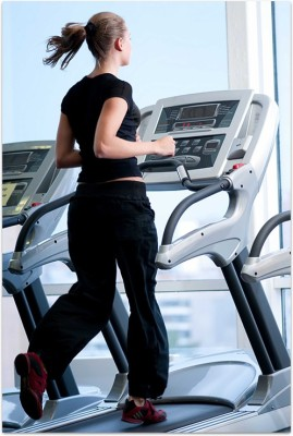 Girl on Treadmill Paper Print(24 inch X 16 inch, Rolled) available at Flipkart for Rs.445