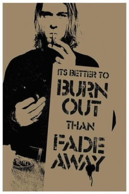 Athah Poster Burn Out and Fade Away Paper Print