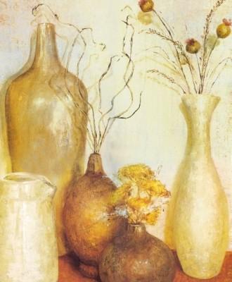 Painting Without Frame - Antique Pots Canvas Art