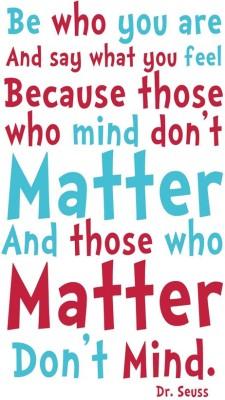Dr Seuss Quotes Paper Print