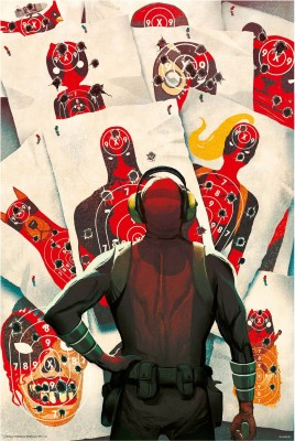 Deadpool target (Officially Licensed) poster Paper Print