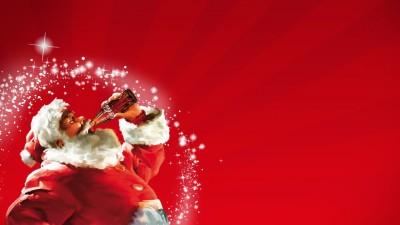Coca Cola New Year Santa Claus Poster Paper Print