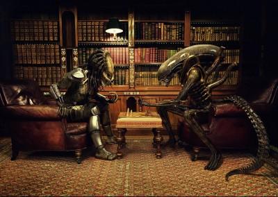 Movie AVP: Alien Vs. Predator Predator Alien HD Wall Poster Paper Print