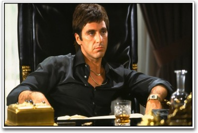 Athah Al Pacino in Scarface Paper Print Paper Print