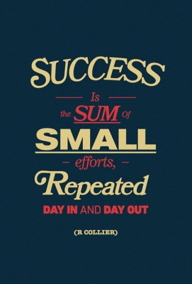 Posterhouzz Success Is The Sum Of Small Efforts - R Collier Quote - Motivational Poster Paper Print