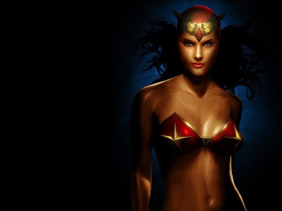 Wonder Woman Frameless Fine Quality Poster Paper Print