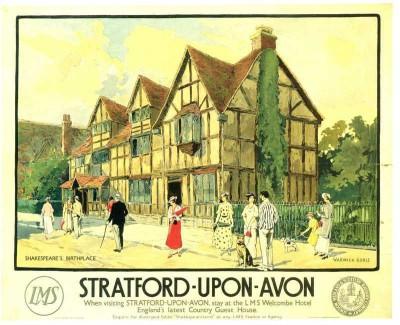 The Museum Outlet - Art Postcard - Stratford upon Avon Fine Art Print