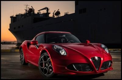 Alfa Romeo 4C Car Poster Paper Print