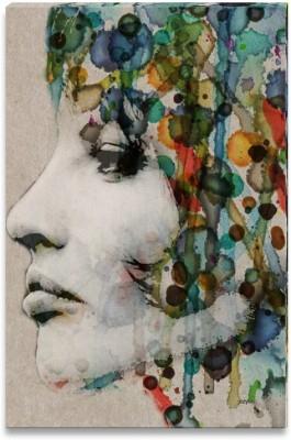 The Grange Watercolor Female Profile Canvas Art